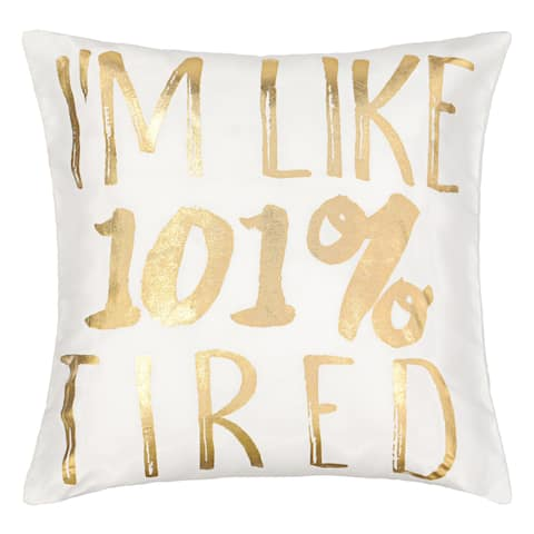 Waverly Spree Lights Out Metallic Saying Decorative Pillow