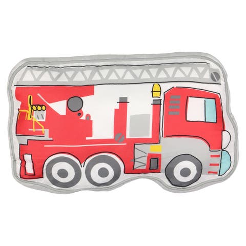 Waverly Kids Hero Squad Fire Truck Decorative Pillow