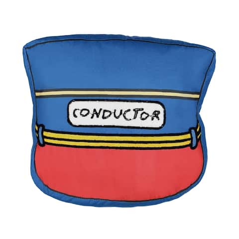 Waverly Kids All Aboard Conductor Hat Decorative Pillow