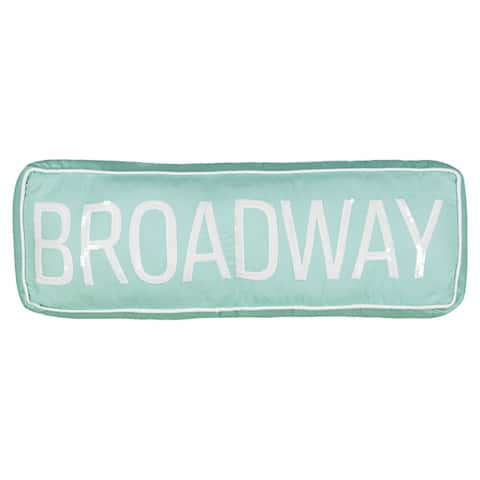 Waverly Spree Cityscape Broadway Sign Decorative Pillow