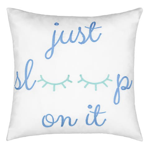 Waverly Spree Lights Out Embroidered Decorative Pillow