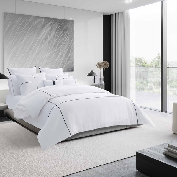 Shop Vera Wang Zig Zag White Duvet Cover Set Free