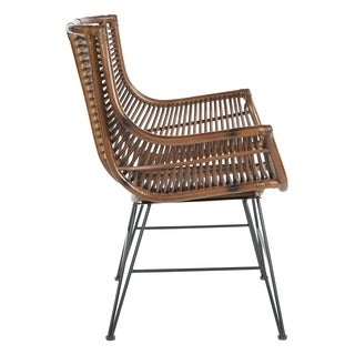 Dallas Chair with Rattan Frame