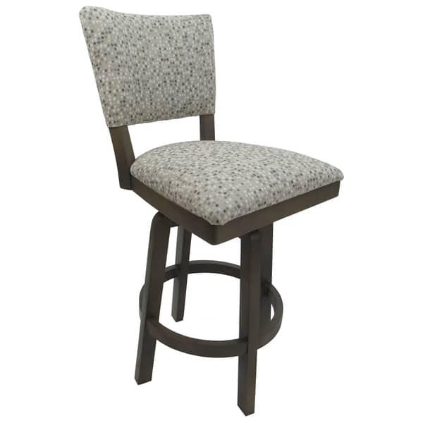 Counter Height Swivel Wood Bar Stool 26 Milan Spring Mix Seat