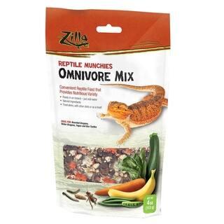 "Zilla Reptile Munchies Omnivore 4 ounces 5.875"" x 2.75"" x 9.5"" - N/A - 4 ounces"