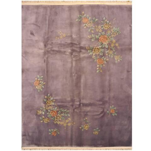Handmade One-of-a-Kind Art Deco Wool Rug - 8' x 10'3