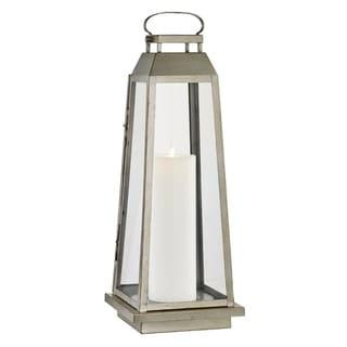 Edgewater 1-light Champagne Silver Outdoor LED Floor Lantern