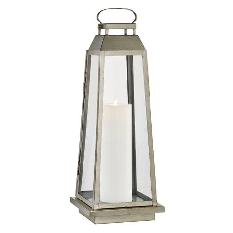 Edgewater 1-light Champagne Silver Outdoor LED Floor Lantern