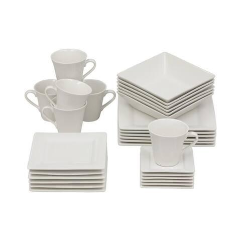 Nova 30 Piece Square Dinnerware Set