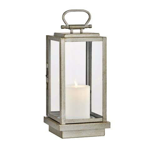 Stanton 1-light Champagne Silver Outdoor LED Table Lantern