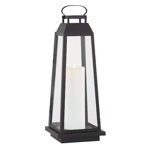 Edgewater 1-light Black Outdoor LED Floor Lantern
