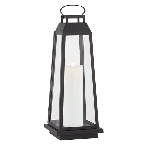 Edgewater 1-light Black Outdoor LED Floor Lantern