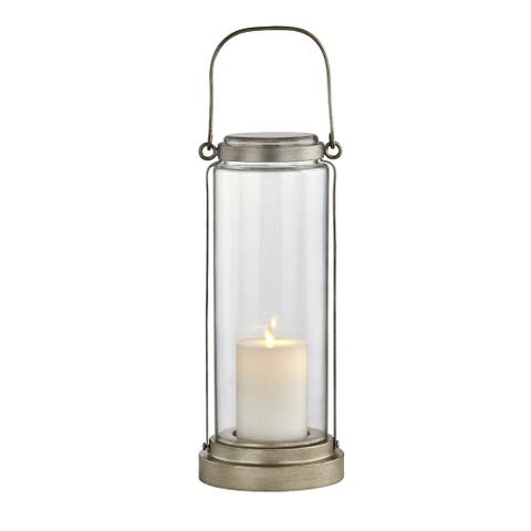 Fillmore 1-light Champagne Silver Outdoor LED Table Lantern