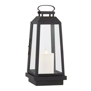 Edgewater 1-light Black Outdoor LED Table Lantern