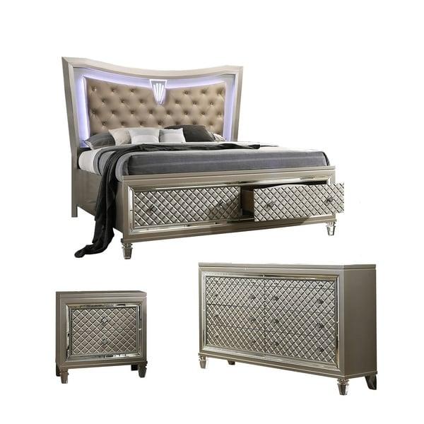 Best Quality Furniture Venetian 3 Piece Bedroom Set