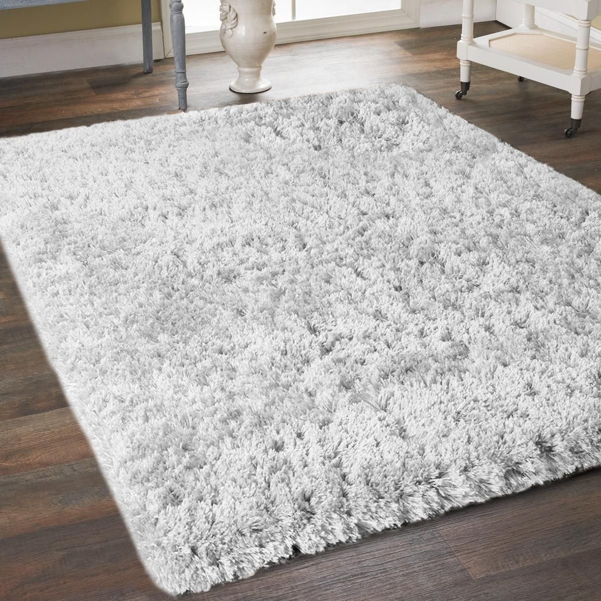 Thick Plush Cozy Gy Area Rug