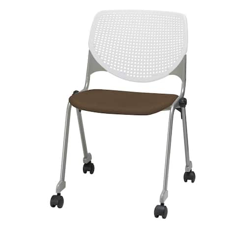 KFI KOOL Stack Chair, Casters, Upholstered Seat
