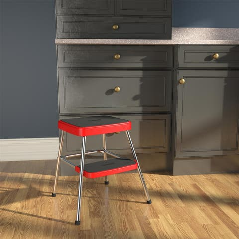 COSCO Stylaire Retro Two-Step Step Stool