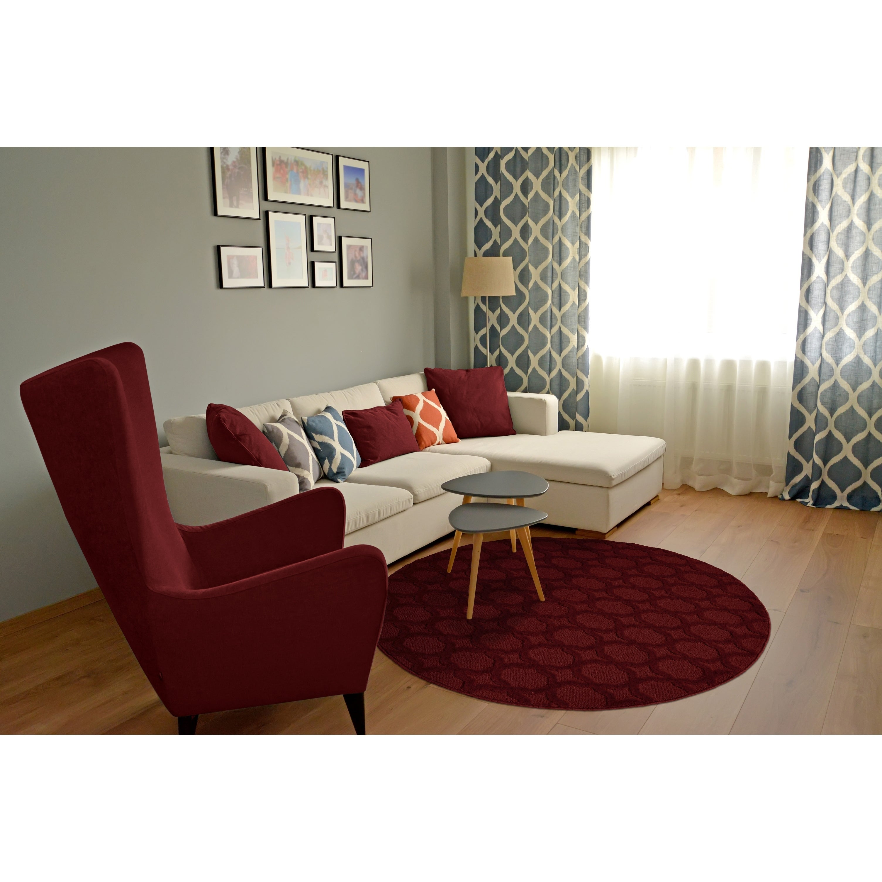 Sparta 5 Round Living Room Area Rug
