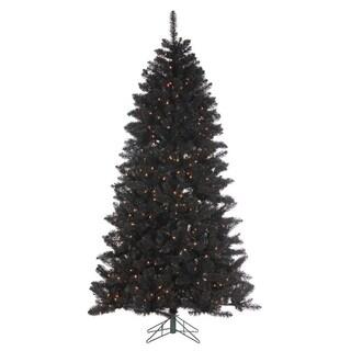 Direct Export 7.5' Shiny Black Pine Prelit Artificial Christmas Tree