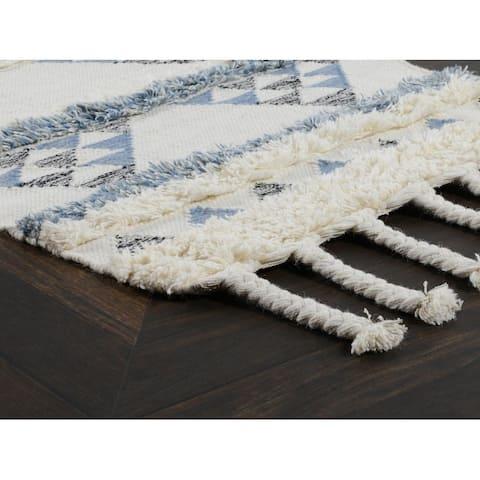 Petra Handwoven Kilim Shag Wool Area Rug by Kosas Home