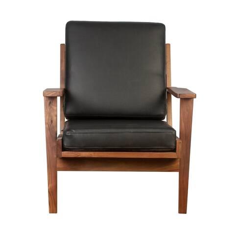 Solidwood lounge chair walnut
