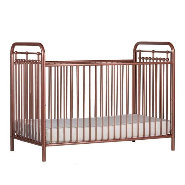 Sierra Ridge Tessa Rose Gold Metal Crib