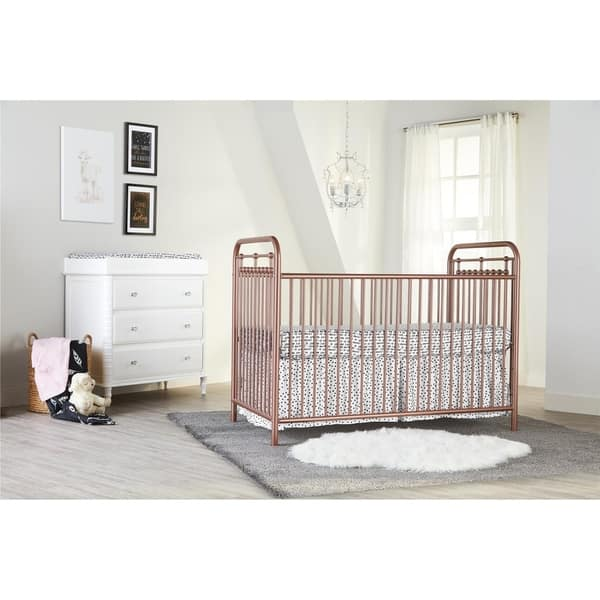 Little Seeds Sierra Ridge Tessa Rose Gold Metal Crib