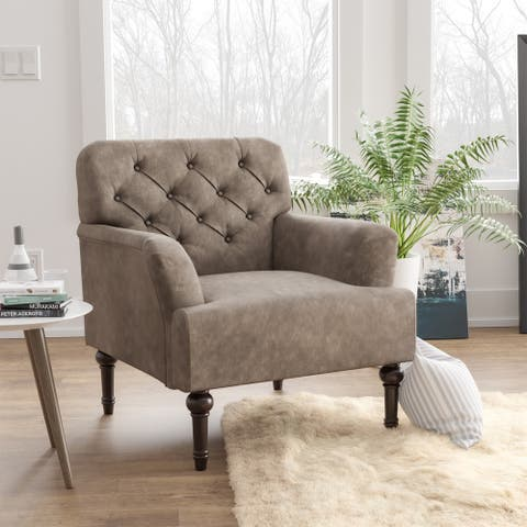 Furniture of America Purani Tufted Wide Accent Chair