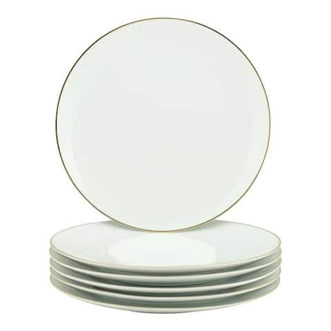 10 Strawberry Street Coupe Gold Line Charger Plate, Set of 6