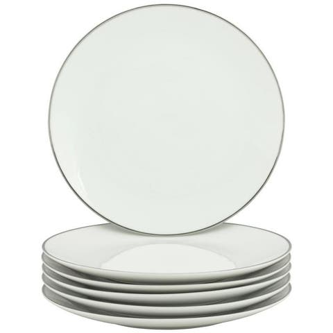 10 Strawberry Street Coupe Silver Line Luncheon Plate, Set of 6