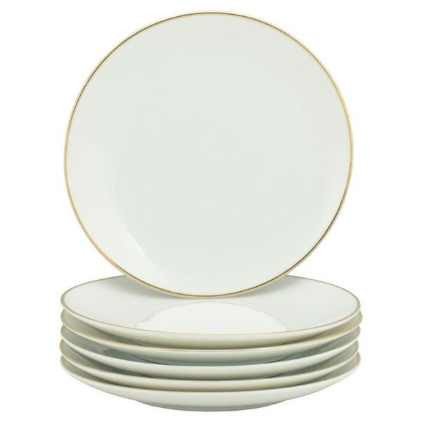 10 Strawberry Street Coupe Gold Line Salad Plate, Set of 6. Opens flyout.