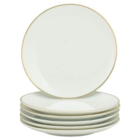 10 Strawberry Street Coupe Gold Line Salad Plate, Set of 6