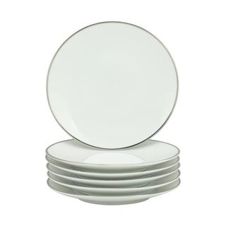 10 Strawberry Street Coupe Silver Line Bread & Butter Plate, Set of 6