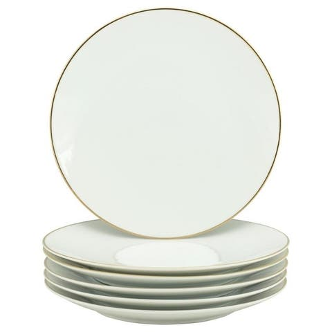 10 Strawberry Street Coupe Gold Line Dinner Plate, Set of 6
