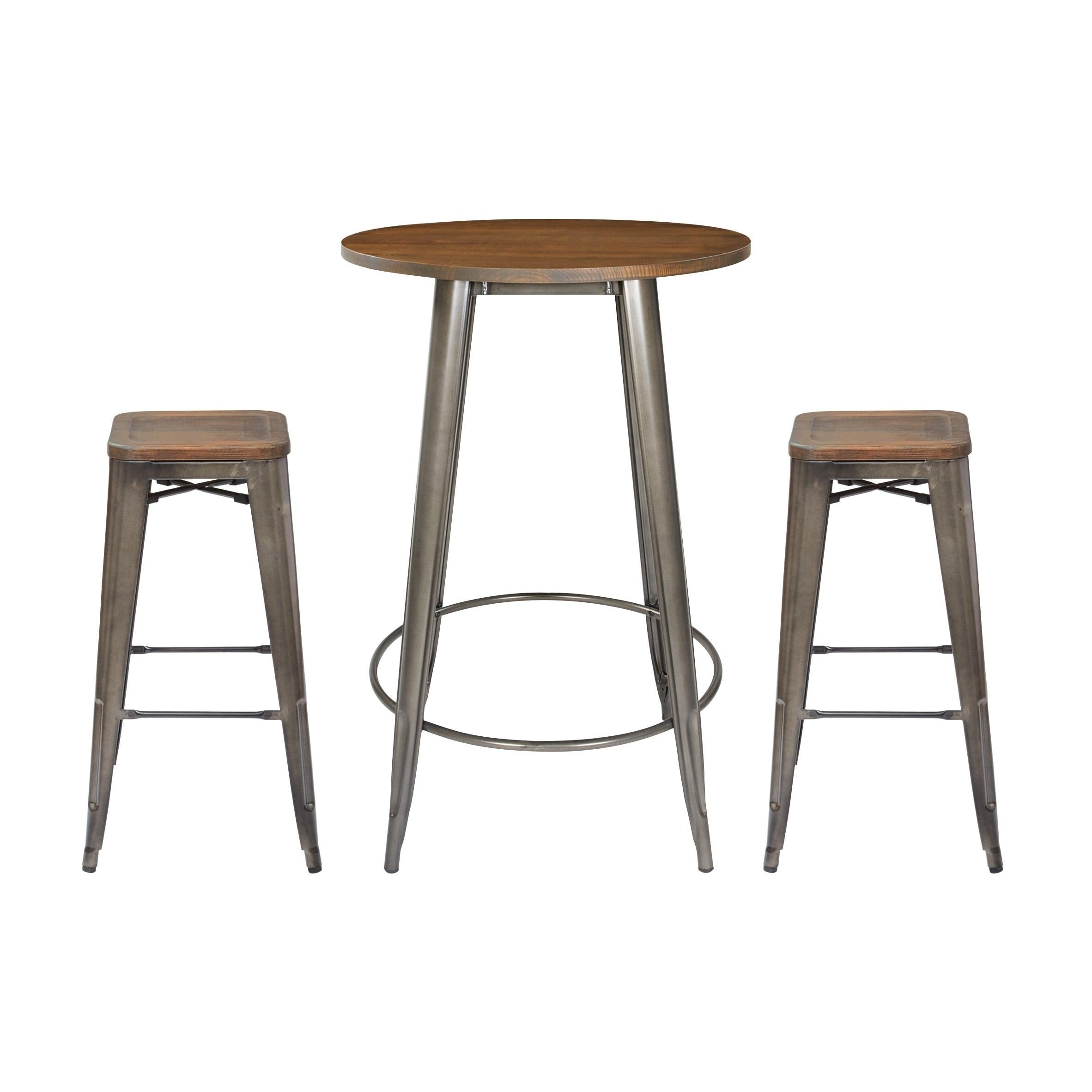 Indio Round Pub Table Set Overstock 28443973