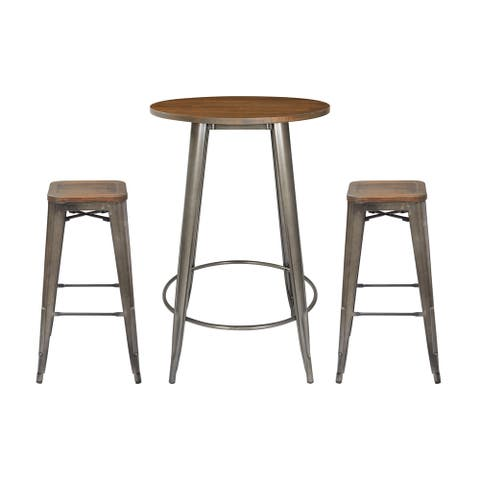 Indio Round Pub Table Set