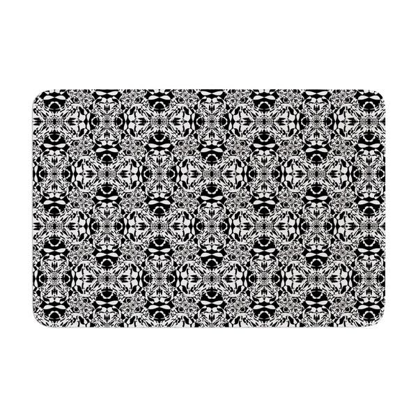 Kess InHouse BarmalisiRTB The Scream Tree Black White Memory Foam Bath Mat 24 X 36 24 X 36 RT1024ABM02 24 by 36-Inch