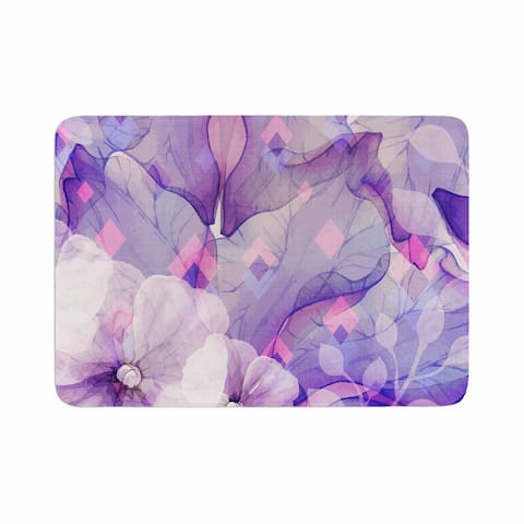"mmartabc ""Rhombuses And Purple Leaves"" Memory Foam Bath Mat"