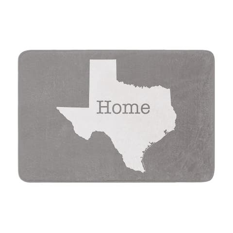 "Bruce Stanfield ""Texas Is Home"" Memory Foam Bath Mat"