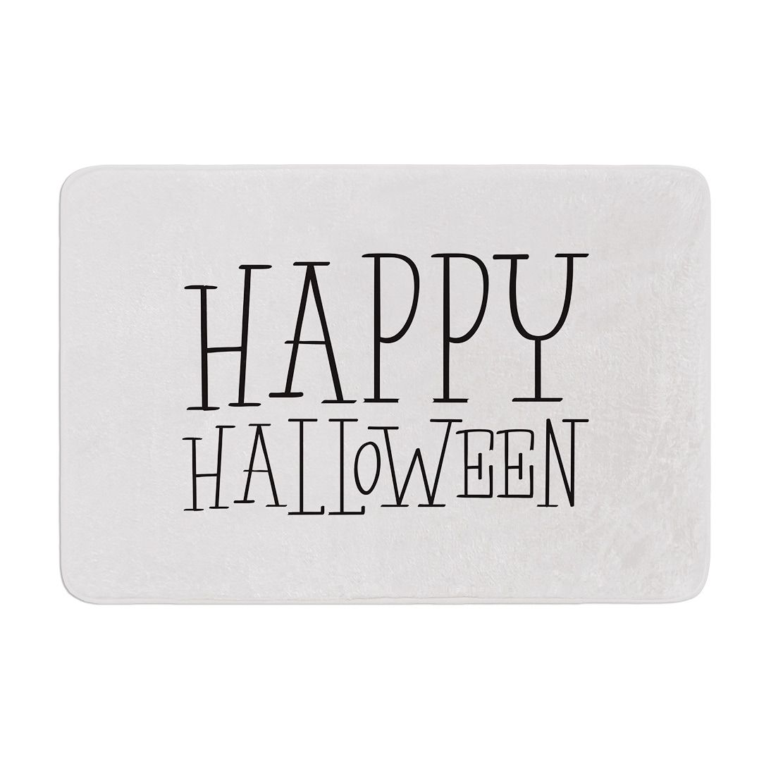 Kess Original Happy Halloween White Memory Foam Bath Mat On Sale Overstock 28448554