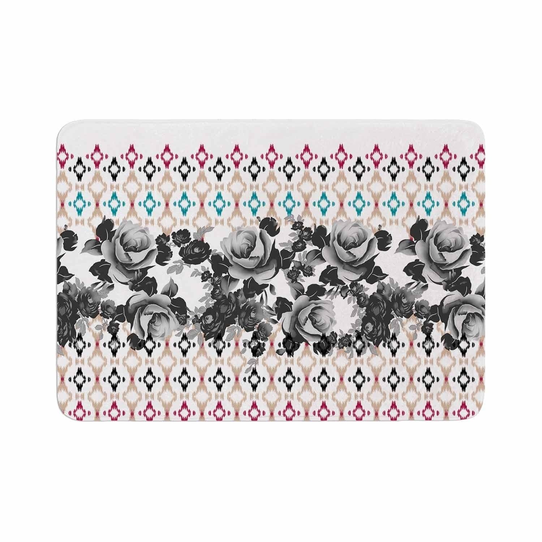 Kess InHouse Amy Reber White Floral Pink Pattern Round Beach Towel Blanket