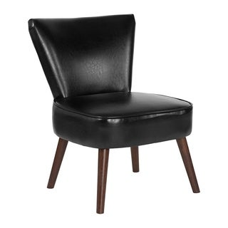 Flash Furniture Hercules Holloway Series Black Leather Retro Accent Side Chair