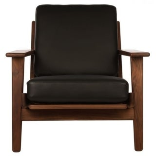 Hans Wegner Plank Armchair in Leather
