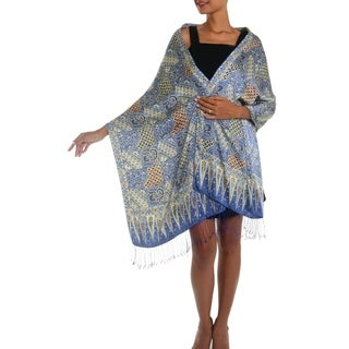 Handmade Iris Sekar Jagad Batik Silk Shawl (indonesia)
