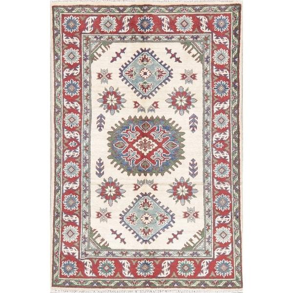 "Kazak Oriental Hand Knotted Wool Pakistani Area Rug - 5'0"" x 3'4"""