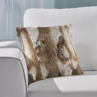 Barrie Glam Fur Pillow Cover (No Filling Included) by Christopher Knight Home