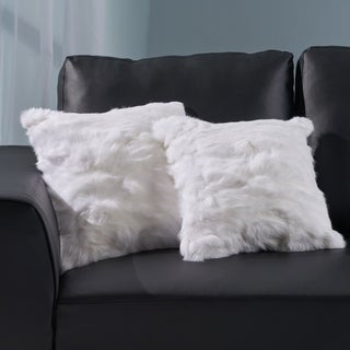 Barrie Glam Fur Pillow Covers (No Filling Included) (Set of 2) by Christopher Knight Home