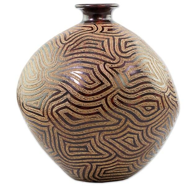 Expansive Thoughts Ceramic Decorative Vase