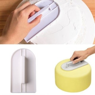 Cake Boss Decorating Tools Cream Plastic Fondant Smoothing Tool Cake Decorate Smoother